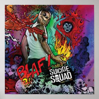 Graffiti de caractère du peloton | Diablo de Poster