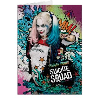 Graffiti de caractère du peloton   Harley Quinn de Cartes