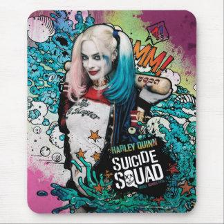 Graffiti de caractère du peloton | Harley Quinn de Tapis De Souris
