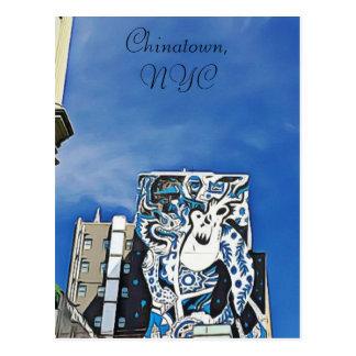 Graffiti de Chinatown sur le bâtiment en carte