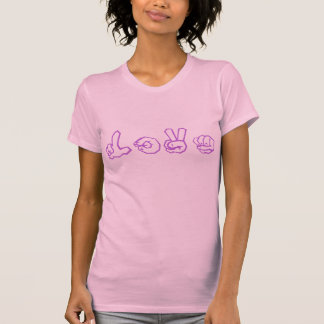 Graffiti de langue des signes américaine d'amour t-shirt