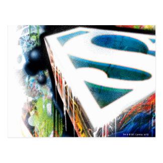 Graffiti de néon de Superman Cartes Postales