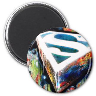 Graffiti de néon de Superman Magnets