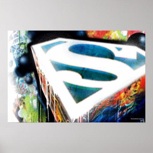 Graffiti de néon de Superman Posters