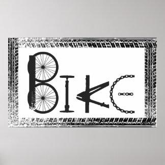 Graffiti de vélo des pièces de vélo et des voies d affiches