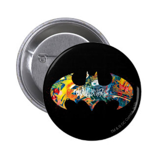 Graffiti du logo Neon/80s de Batman Pin's