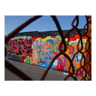 Graffiti et chaînes poster