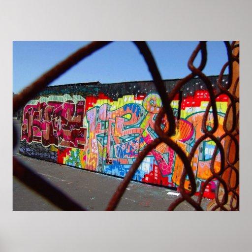 Graffiti et chaînes posters