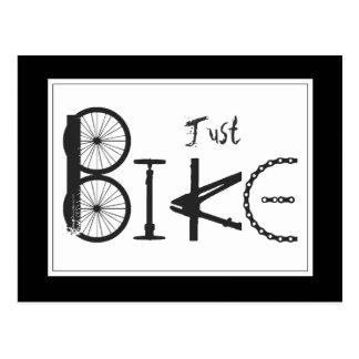 """Graffiti """"juste de vélo"""" des pièces de vélo et des carte postale"""