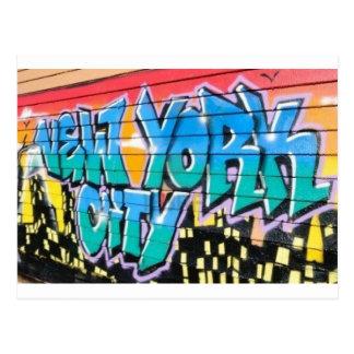 graffiti ny carte postale