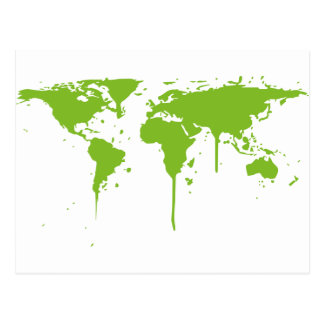 Graffiti vert peint de carte du monde