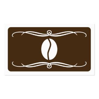 grain de café de mod (couleur personnalisable) carte de visite standard