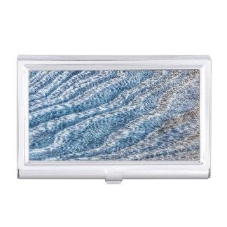 Grain en bois dans le bleu boîtiers pour cartes de visite