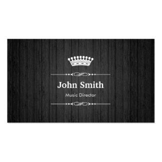 Grain en bois noir royal de directeur musical carte de visite standard