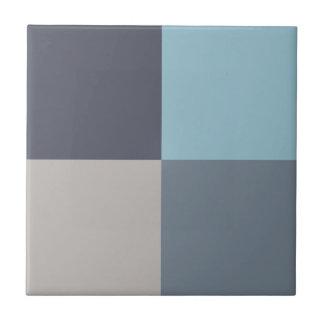 Graine de coton bleue de gris de truite carreau