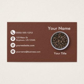 Grains de café cartes de visite