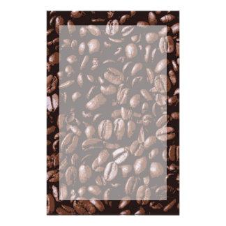 Grains de café délicieux frais de Brown Papier À Lettre Personnalisable