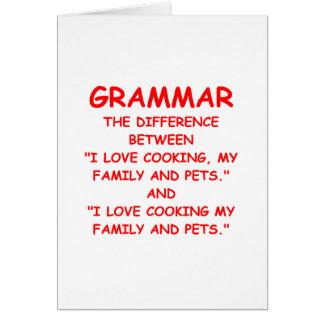 grammaire carte de vœux