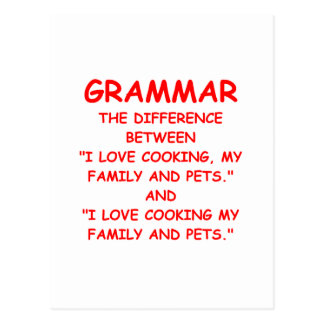grammaire carte postale