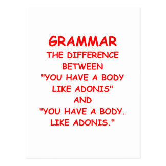 grammaire cartes postales