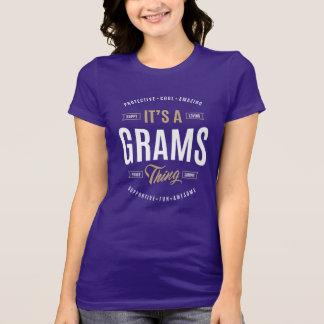 Grammes de cadeaux de T-shirts