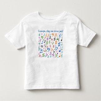 Grampa, me jouent du jazz ! t-shirt pour les tous petits