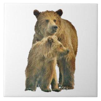 """Grand (6"""" X 6"""") carreau de céramique avec des ours"""