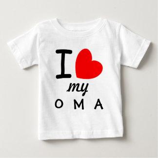 Grand amour rouge du coeur I mon OMA V06 T-shirt Pour Bébé