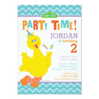 Grand anniversaire d'oiseau carton d'invitation  12,7 cm x 17,78 cm