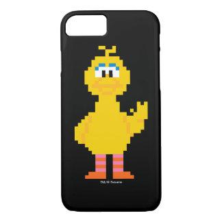 Grand art de pixel d'oiseau coque iPhone 7