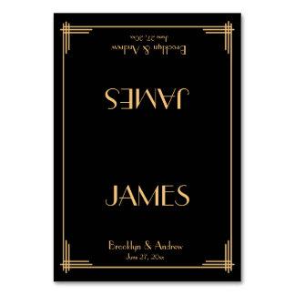 Grand art déco noir de Gatsby épousant des cartes