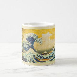 Grand art japonais vintage de vague mug