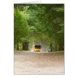 Grand autobus scolaire jaune carte de vœux