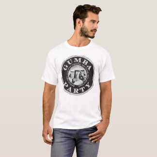 Grand avant noir de logo de Gumba T-shirt