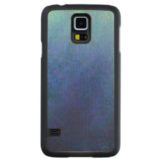 Grand bleu coque slim galaxy s5 en érable