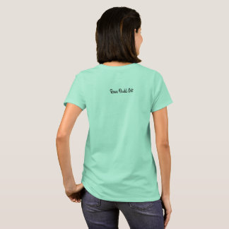 grand bleu de base de T-shirt de femmes
