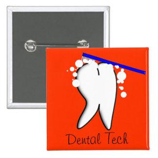 Grand bouton de dent de technicien dentaire badge