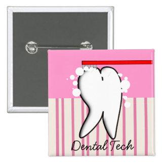 Grand bouton de dent de technologie dentaire badges
