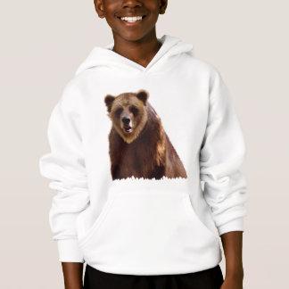 Grand cadeau d'art de faune d'ours gris