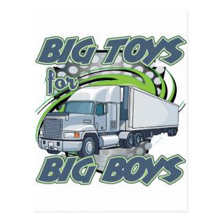 Grand camionnage de garçons carte postale