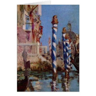 Grand canal à Venise - Edouard Manet Carte De Vœux