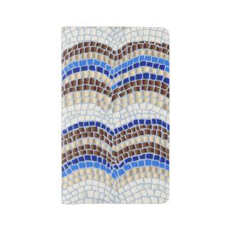 Grand carnet de mosaïque bleue