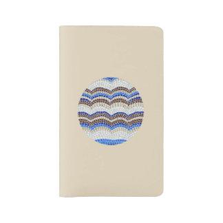 Grand carnet de mosaïque bleue ronde