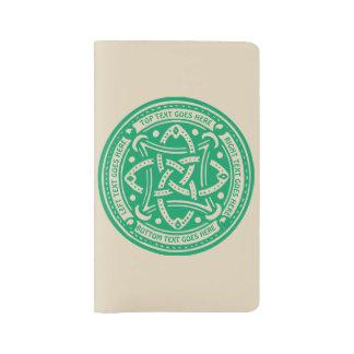 Grand Carnet Moleskine Créez votre propre irlandais celtique de vert de