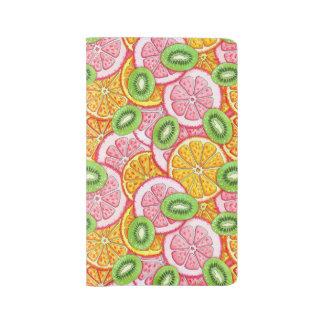 Grand Carnet Moleskine Motif d'été. Fruit orange de pamplemousse et de