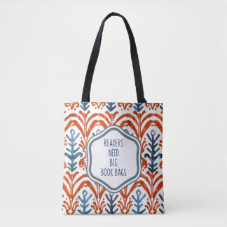 Grand cartable bleu et orange sac