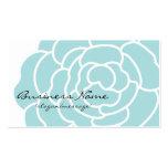 Grand carte de visite bleu de fleur
