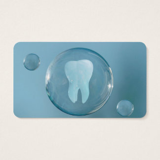 Grand carte de visite bleu élégant de dentiste de