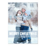 Grand carte photo moderne audacieux de Joyeux Noël Faire-parts