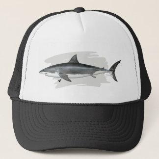 Grand casquette de camionneur de requin blanc